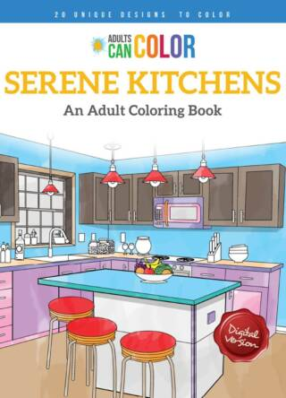 Serene Kitchens Coloring Book