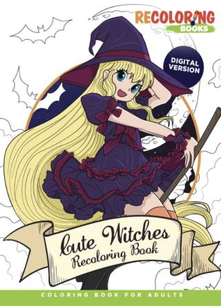 Cute Witches Coloring Book